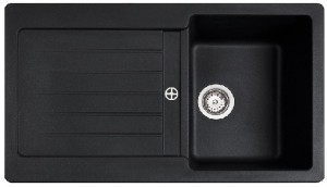 poza Chiuveta bucatarie Teka incorporabila model Kea 45B TG 1B 1D - Tegranit Schwarzmetallic