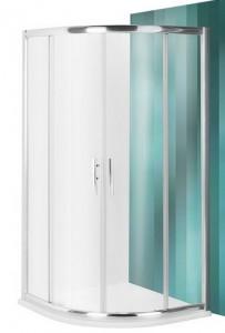 poza Cabina de dus semirotunda cu 2 usi culisante 80cm seria Roltechnik model Proxima Line PXR2N/800/2000 Transparent