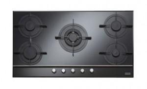 poza Plita pe gaz Franke seria Crystal Black model FHCR 905 4G TC BK C (gratare fonta), neagra