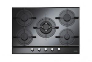 poza Plita pe gaz Franke seria Crystal Black model FHCR 755 4G TC HE BK C (gratare fonta), neagra