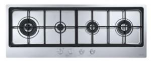 poza Plita pe gaz Franke seria Neptune Filotop model FHNE 1204 3G TC XS FM C (gratare fonta), inox satinat