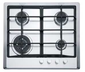 poza Plita pe gaz Franke seria Multi Cooking 600 model FHM 604 3G TC XT C (gratare fonta), inox microdekor
