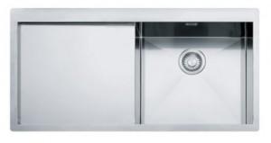 poza Chiuveta de bucatarie incastrata cu picurator stanga Franke seria Planar model PPX 211 TL Inox satinat