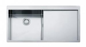 poza Chiuveta de bucatarie incastrata cu picurator dreapta  Franke seria Planar model PPX 211 TL Inox satinat