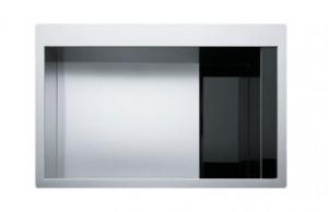 poza Chiuveta de bucatarie 780x512mm Franke seria Crystal Line model CLV 210 inox satinat, cristal negru