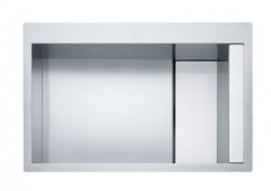poza Chiuveta de bucatarie 780x512mm Franke seria Crystal Line model CLV 210 inox satinat, cristal alb