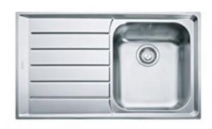 poza Chiuveta de bucatarie 860x510mm cu picurator stanga Franke seria Neptune model NEX 611 Inox Satinat