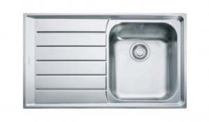 poza Chiuveta de bucatarie 860x510mm cu picurator stanga Franke seria Neptune model NET 611 Inox Microdekor