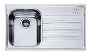 poza Chiuveta de bucatarie 860x500mm cu picurator dreapta Franke seria Armonia model AMT 611 Inox Microdekor