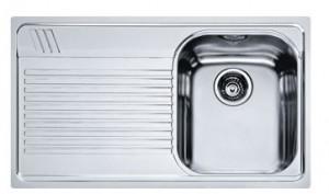 poza Chiuveta de bucatarie 860x500mm cu picurator stanga Franke seria Armonia model AMT 611 Inox Microdekor