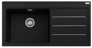 poza Chiuveta de bucatarie 1 cuva 1000x515mm cu picurator dreapta Franke seria Mythos Fusion model MTF 611 Fragranite Nero, cu accesorii