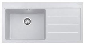 poza Chiuveta de bucatarie 1cuva 1000x515mm cu picurator dreapta Franke seria Mythos Fusion model MTF 651-100 Bianco, cu accesorii