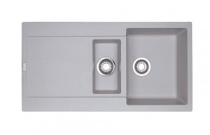 poza Chiuveta de bucatarie 2 cuve 970x500mm Franke seriaMaris model MRG 651 Alluminio Fragranite