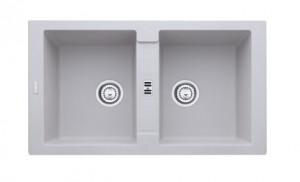 poza Chiuveta de bucatarie 2 cuve 860x500mm Franke seria Maris model MRG 620 Alluminio Fragranite