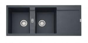 poza Chiuveta de bucatarie 2 cuve 1160x500mm Franke seria Maris model MRG 621 Grafite Fragranite