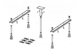 poza Picioare pentru cadita Riho model Basel 418 & 434