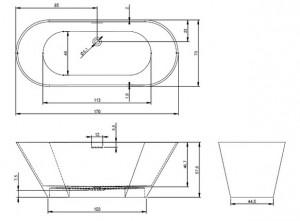 Poza Cada freestanding 170x70 cm Riho model Barcelona