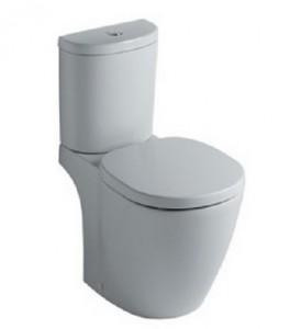 poza Vas WC Ideal Standard fixare in pardoseala cu rezervor pe vas Arc si capac slim inchidere lenta gama Connect, alb O.Z.