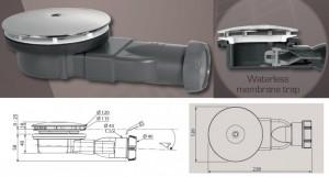 poza Sifon cu membrana siliconica de la Wirquin si diametru de 90 mm
