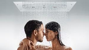 poza Dispersor dus Hansgrohe Ø 600mm gama Raindance Rainmaker, cu iluminare si termostat, crom