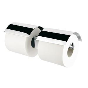 poza Suport dublu hartie WC cu capac cromat Nexx