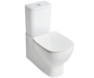 poza Vas wc Ideal Standard pe pardoseala AquaBlade lipit de perete , cu rezervor si capac inchidere Soft Ideal seria Tesi