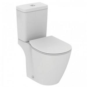 poza Vas WC Ideal Standard fixare in pardoseala cu rezervor pe vas Cube si capac inchidere normala gama Connect, alb