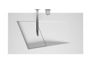 poza Lavoar Solid Surface Riho model Lorient 90x50 cm