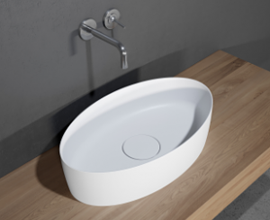 poza Lavoar Solid Surface oval Riho 58x35 CM