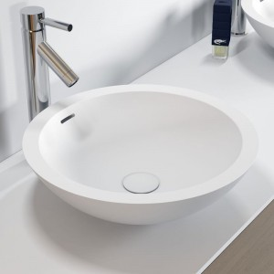 poza Lavoar Solid Surface rotund Riho model Avella Ø42 Cm
