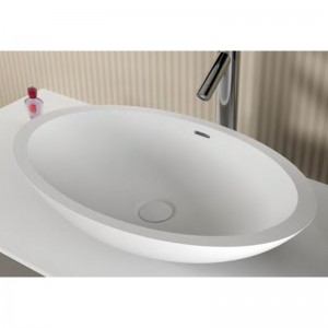 poza Lavoar Solid Surface oval Riho model Avella 58x36 cm
