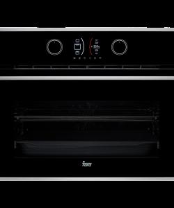 poza Cuptor compact multifunctional 60 cm Teka model HLC 844 C cristal negru/inox anti-pata
