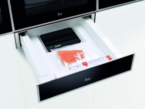 poza Aparat pentru vidat cu cantar 60 cm Teka model VS 152 GS cristal negru/inox anti-pata