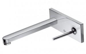 poza Baterie Ideal Standard de lavoar seria SimplyU, design dreptunghiular, pipa dreapta