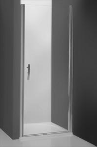 poza Usa de dus pivotanta 90 cm fara parte fixa pentru nisa seria Roltechnik model Tower profil brilliant sticla transparent