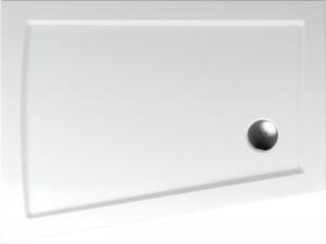 poza Cadita de dus asimetrica de stanga 120x90x70 cm Teiko model GALICIA