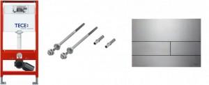 Poza Pachet TECE Square cadru WC , clapeta actionare si sistem montaj P.P. Poza 50505