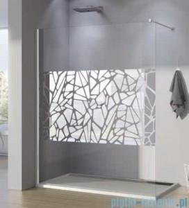 poza Paravan independent 100 cm Sanswiss gama Pur Chrome Décor- Stone
