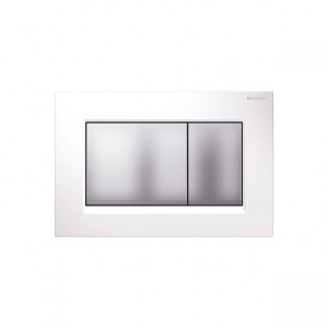 poza Clapeta WC Geberit gama Sigma30 alba/crom mat/crom mat