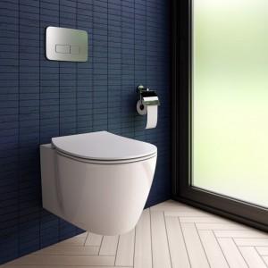 poza Pachet Vas WC suspendat Ideal Standard gama Connect AquaBlade, cu sistem de prindere ascuns, alb si capac soft close