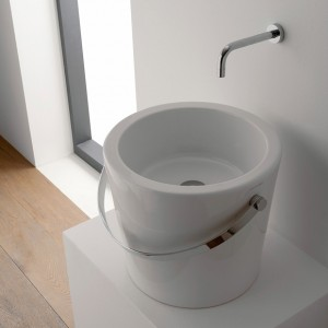 poza Lavoar Scarabeo model Bucket 40 alb