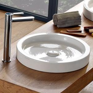 poza Lavoar Scarabeo model Bucket pe blat, diam. 50 H-6 cm, alb