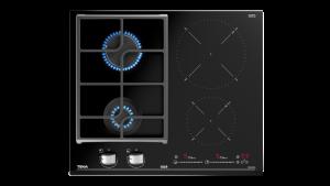 poza Plita mixta 2 zone gaz + 2 zone inductie 60 cm Touch Control Teka model JZC 64322 ABN BK