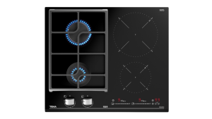 poza Plita mixta 2 zone gaz + 2 zone inductie 60 cm Touch Control Teka model JZC 64322 BK ABN