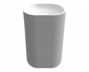 poza Coloana pt. lavoar Solid Surface oval Riho, model ESSENCE COLUMN 48x32X80 cm