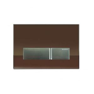 poza Clapeta Geberit Sigma40 cu dubla actionare din sticla umber/aluminiu cu sistem eliminare miros