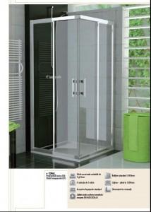 poza Cabina de dus rectangulara SanSwiss de 120x80 cm, model Top-Line, cu sticla clara si profil crom lucios