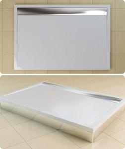 poza Cadita de dus rectangulara SanSwiss model WIA, din marmura sintetica de 90x100x3,5 cm model ILA