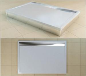 Poza Cadita de dus rectangulara SanSwiss model WIA, din marmura sintetica de 80x90x3 cm model ILA