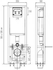 Poza Rezervor cu cadru Ideal Standard pentru wc suspendat